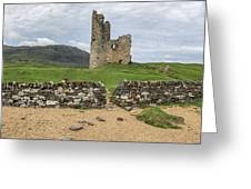 Ardvrek Castle Panorama 0842 Greeting Card