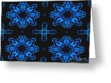Area Blue Abstract Greeting Card