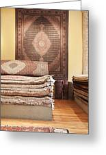 Area Rugs In A Store Greeting Card by Jetta Productions, Inc