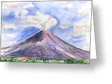 Arenal Volcano Costa Rica Greeting Card