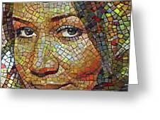 Aretha Franklin Tribute Mosaic Portrait 2 Greeting Card