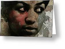 Aretha Franklin - Tribute Greeting Card