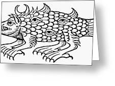 Argus Sea Monster, 1537 Greeting Card