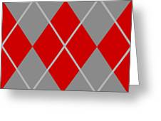 Argyle Diamond With Crisscross Lines In Paris Gray N02-p0126 Greeting Card