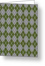 Argyle Diamond With Crisscross Lines In Paris Gray T09-p0126 Greeting Card