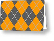 Argyle Diamond With Crisscross Lines In Pewter Gray T03-p0126 Greeting Card
