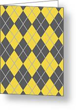 Argyle Diamond With Crisscross Lines In Pewter Gray T05-p0126 Greeting Card