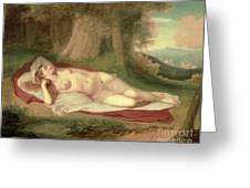 Ariadne Asleep On The Island Of Naxos Greeting Card by John Vanderlyn