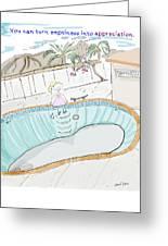 Arial Skates Pools Greeting Card