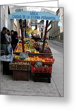 Arica Chile Fruit Stand Greeting Card