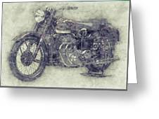 Ariel Square Four 1 - 1931 - Vintage Motorcycle Poster - Automotive Art Greeting Card
