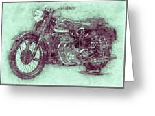 Ariel Square Four 3 - 1931 - Vintage Motorcycle Poster - Automotive Art Greeting Card