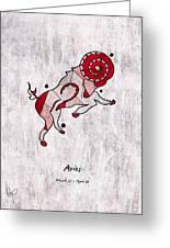 Aries Artwork Greeting Card