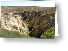 Arikaree Breaks Canyon Greeting Card