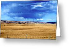 Arising Storm Over Calgary Greeting Card
