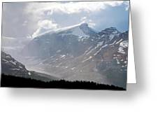 Arising Storm Over Glacier Greeting Card