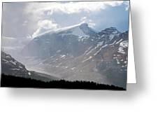 Arising Storm Over Glacier Greeting Card