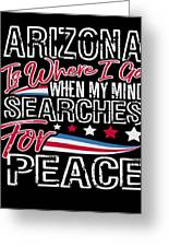 Arizona American Patriotic Memorial Day Greeting Card