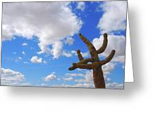 Arizona Blue Sky Greeting Card