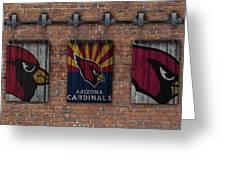 Arizona Cardinals Brick Wall Greeting Card
