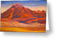 Arizona Mountains At Sunset Greeting Card