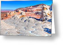 Arizona- Paria Plateau- White Pocket Greeting Card