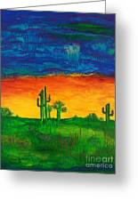 Arizona Rain Greeting Card