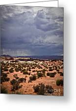 Arizona Rainy Desert Landscape Greeting Card