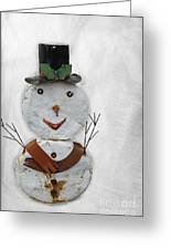 Arizona Snowman Greeting Card