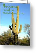 Arizona The Baby State Greeting Card