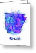 Arkansas Map Watercolor 2 Greeting Card