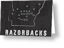Arkansas Razorbacks / Ncaa College Football Art / Fayetteville Greeting Card by Damon Gray