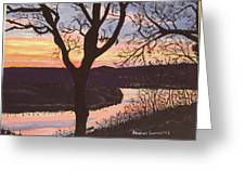Arkansas River Sunset Greeting Card