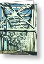 Arkansas Side Of Helena Bridge 1 Greeting Card