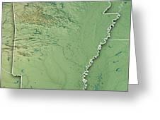 Arkansas State Usa 3d Render Topographic Map Border Wood Print