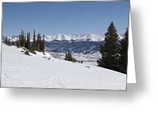 Arkansas Valley From Mount Elbert Colorado In Winter Greeting Card