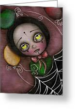 Arlequin Clown Girl Greeting Card