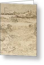 Arles View From The Wheatfields Greeting Card