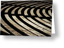 Arlington Cemetery Amphitheater Benches Greeting Card