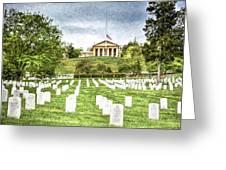 Arlington House Half Mast  Greeting Card