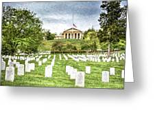 Arlington House Half Mast  Greeting Card