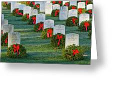 Arlington National Cemetery At Christmas Greeting Card