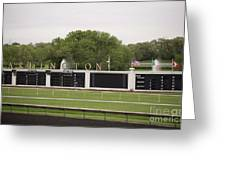 Arlington Park Race Track Greeting Card