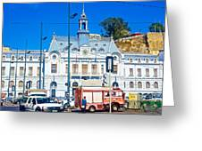 Armada De Chile In Valparaiso-chile  Greeting Card