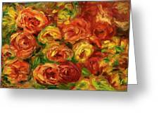 Armful Of Roses 1918 Greeting Card