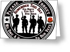Armistice Day  Greeting Card