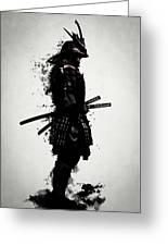 Armored Samurai Greeting Card
