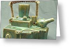 Armoured Teapot  Greeting Card