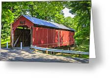 Armstrong/clio Covered Bridge Greeting Card