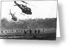 Army Airborne In Vietnam Greeting Card
